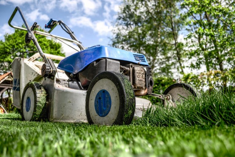 Lawmower, representing garden services and grounds maintenance.
